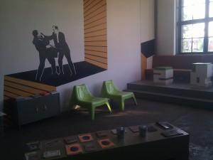 Interior de la asociación Wyspa